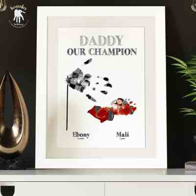 Dad-handprints-footprints-keepsake-F1-Racing-car-daughter