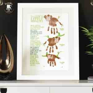 Monkey Handprints poem