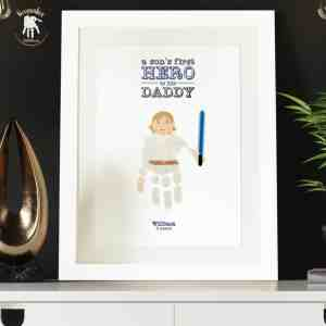Starwars handprint and footprint – Dad