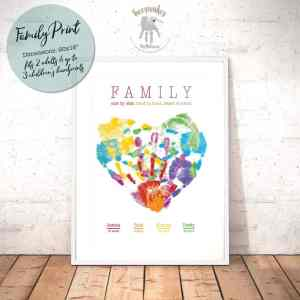 Large Family Handprint Heart
