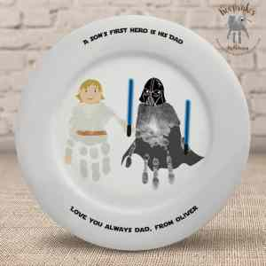 Starwars themed handprint gift- Plate