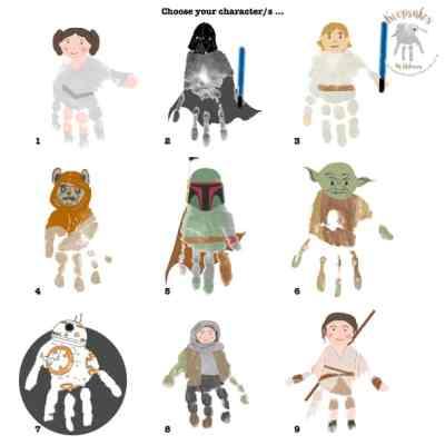 Starwars handprint character selection
