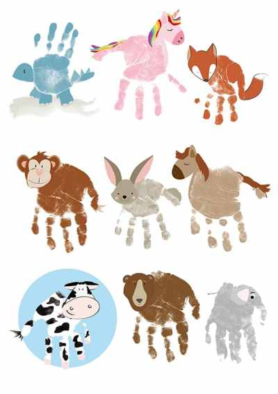 family handprint art handprint poem handprint animal variations