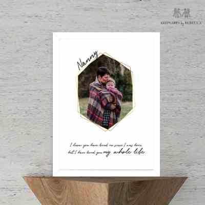 Photo gift for nanny
