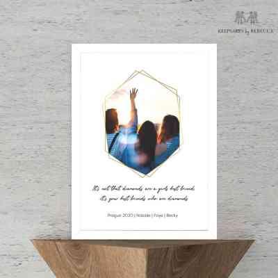 Friends are diamonds quote | bestie print