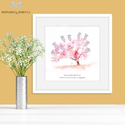 Fingerprint family tree | Family tree | Fingerprint print | personalised family