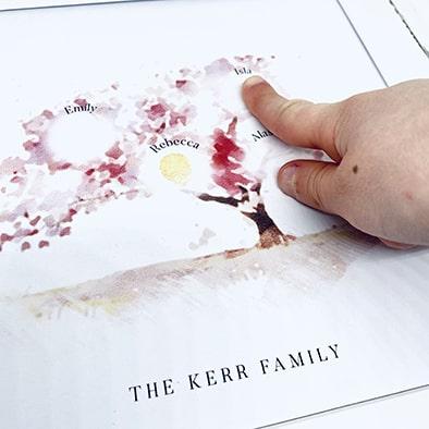 fingerprint family tree | Fingerprint keepsake | Fingerprint art | Fingerprint tree