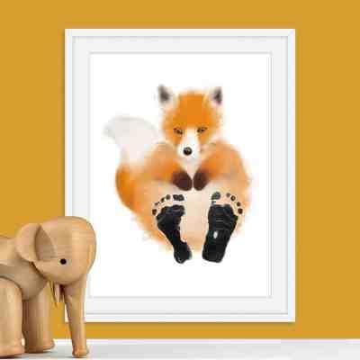 Baby Footprint Kit | Fox print | personalised baby