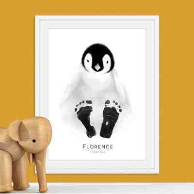 Personalised Baby Penguin Footprint Kit