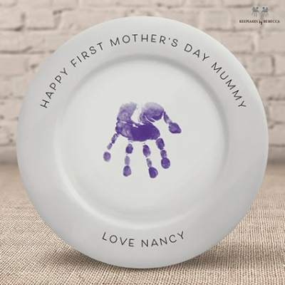 Handprint plate- personalised gift for Mummy - first mother's day gift