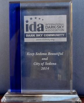 IDA Plaque to KSB and City of Sedona 2014