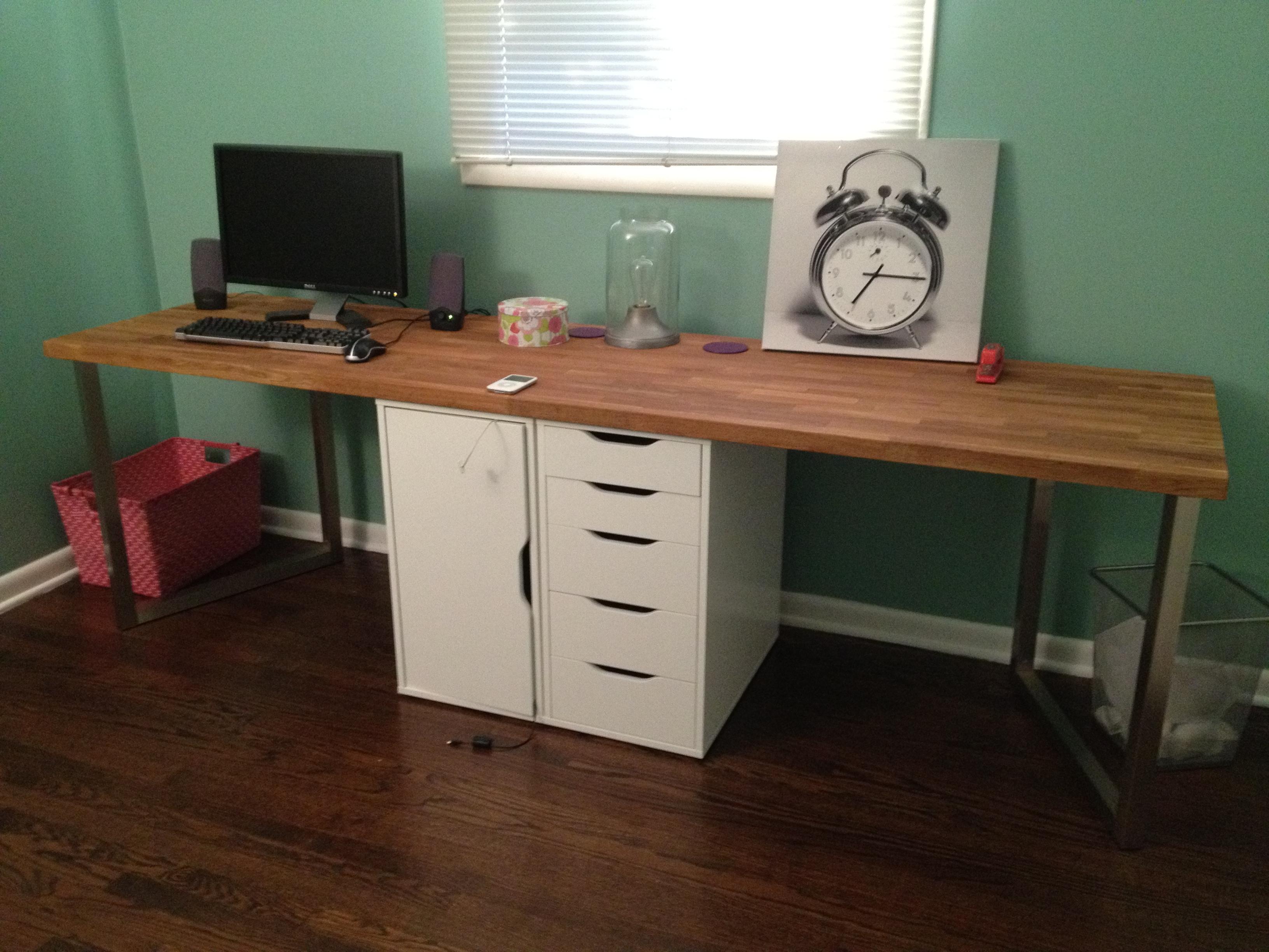 Office Makeover Part One DIY Desk IKEA Hack  Keeps on