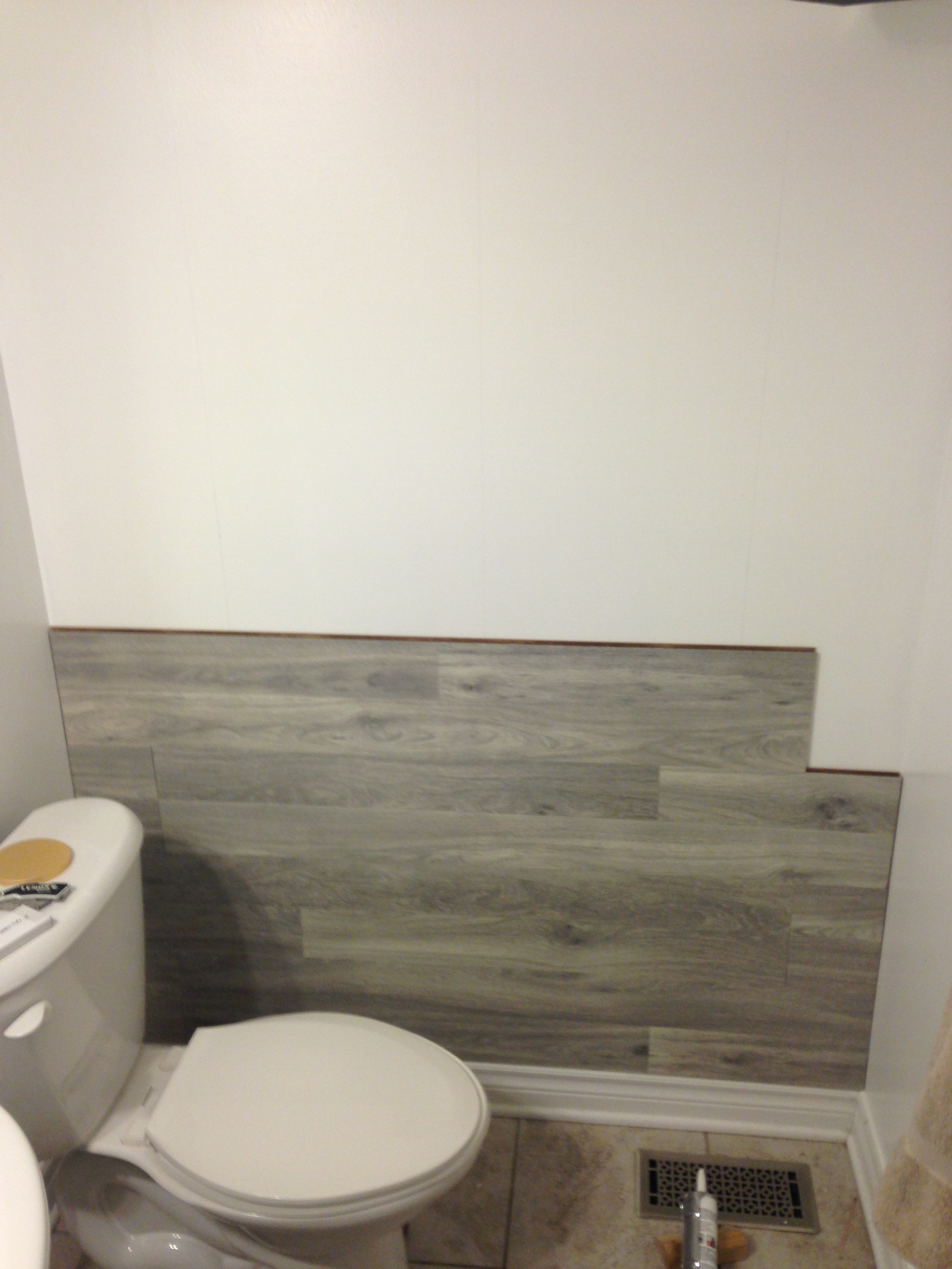 Bored to Floored Laminate Floor Accent Wall DIY  Keepstead
