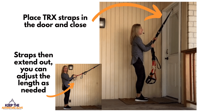 best TRX leg exercises-attach TRX