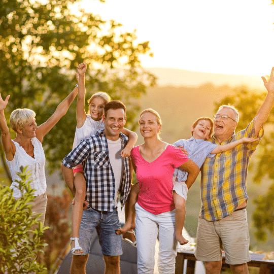 happy family after knee arthritis program