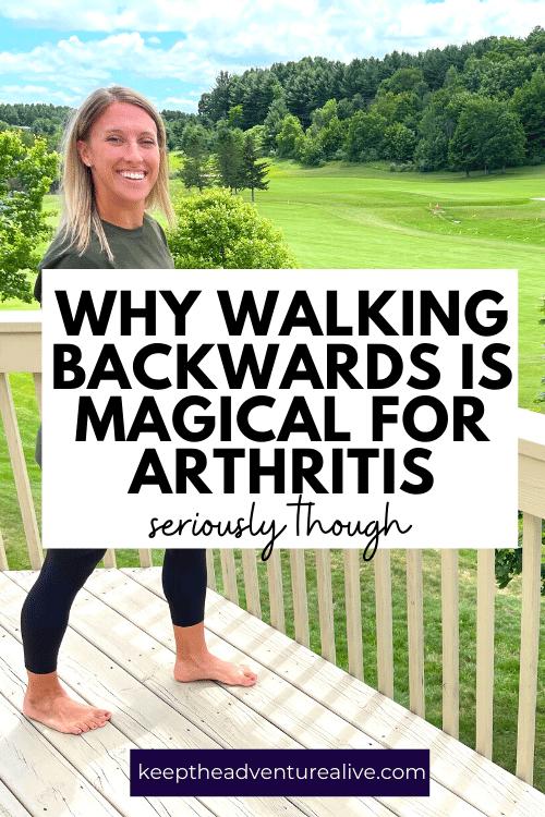 Dr Alyssa Kuhn walking backwards