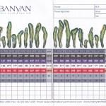 Scorekarte Banyan
