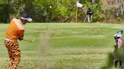 The royal Hua Hin Golf Club Annäherung aus Grün