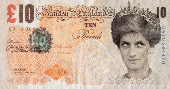Di-faced Tenner by Banksy
