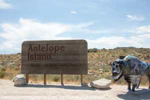 Antelope Island Utah welcome sign
