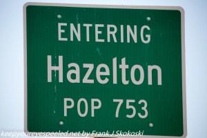 sign about Hazelton Idaho