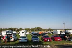 cars at parking lot southern butte Rexburg Idaho