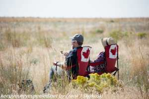 Canadian couple waiting for solar eclipse