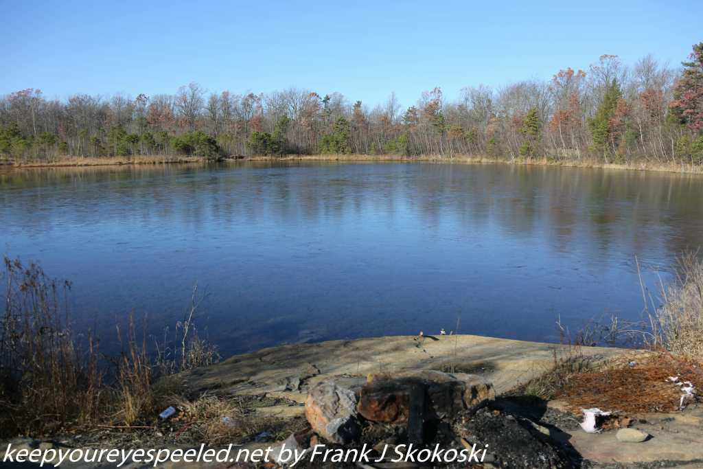 clear blue waters of Grape run reservoir