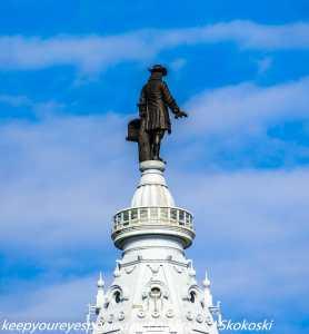 William Penn statute atop City Hall Philadelphia