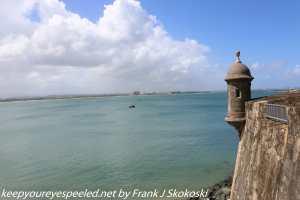 view of San Juan bay from city wall