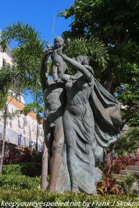 sculpture of family