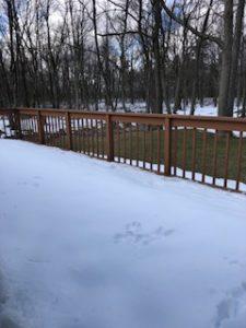 snow on deck