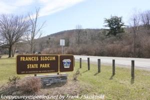 Frances Slocum park sign along highway
