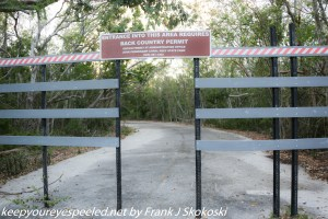 entrance gate to back country trail