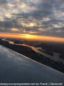 sunrise on flight to Philadelphia