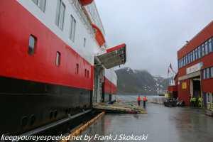 MS Finnmark docked in Honningsvag