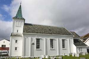clouds above church