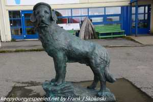Bamse the dog statue