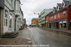 cloudy and empty street in Tromso