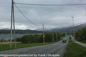 clouds over highway near tromso