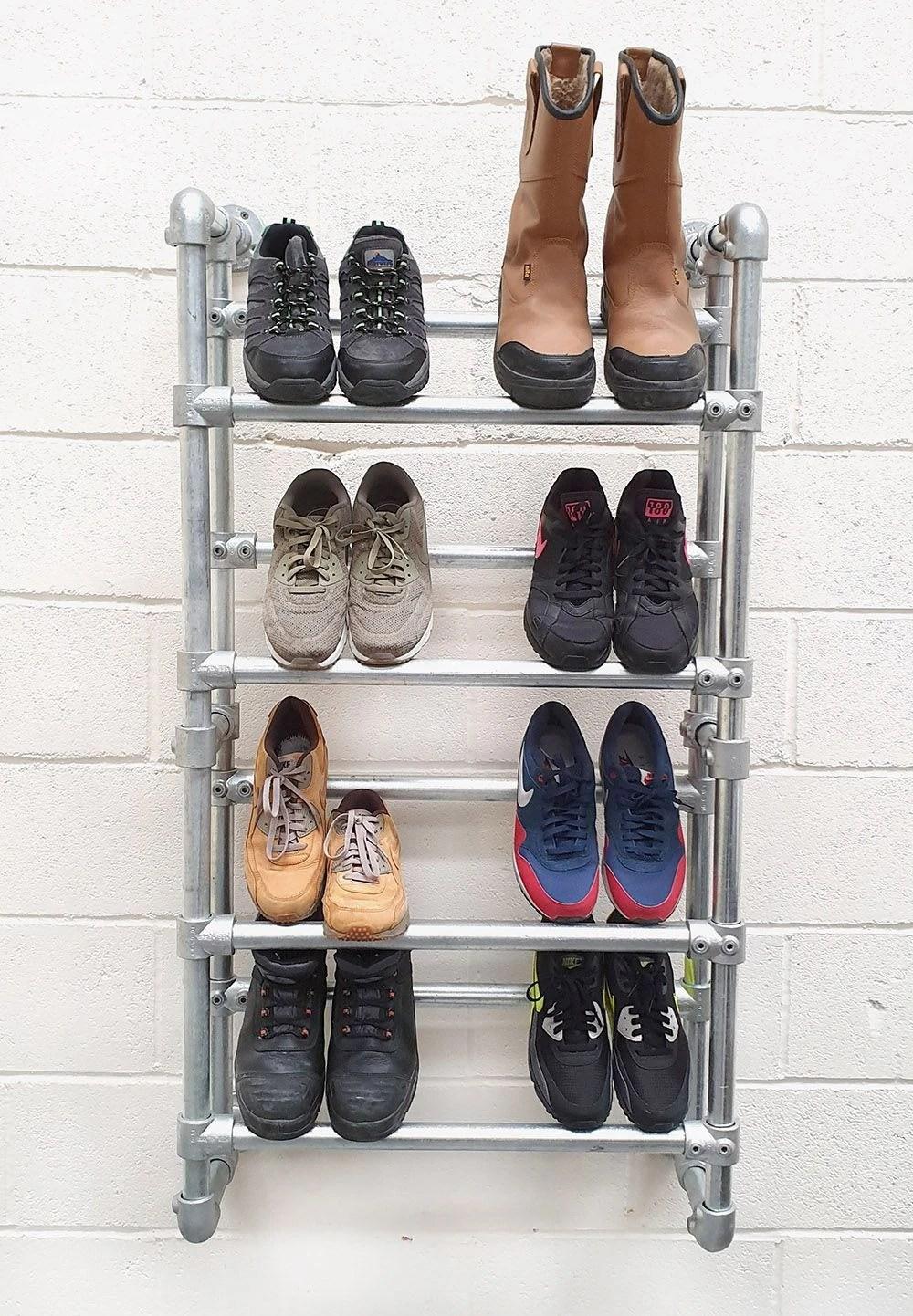 wall mounted heavy duty shoe rack