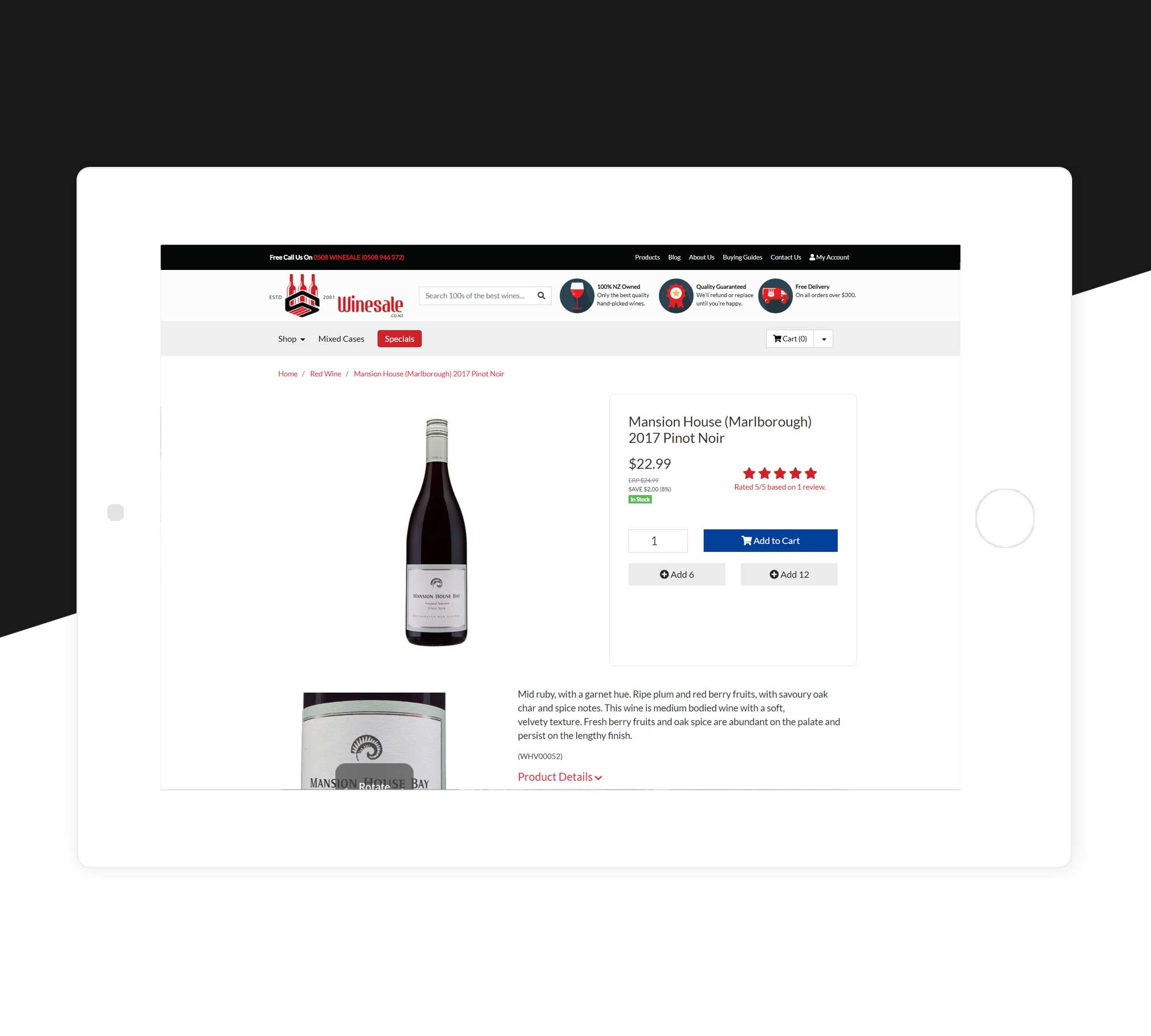 Wine Sales New Zealand Neto Website