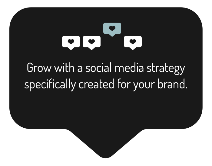 Grow with a social media strategy specifically created for your brand