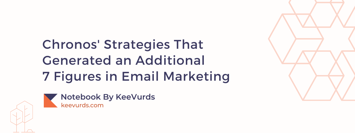 Chronos' Strategies That Generated an Additional 7 Figures in Email Marketing