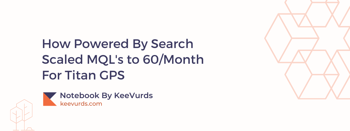 How Powered By Search Scaled MQL's to 60 per Month For Titan GPS