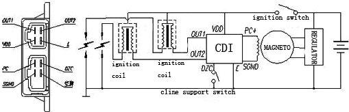 yamaha virago 250 wiring diagram led trailer lights pinout del cdi de la super shadow / | keeway supershadow