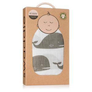 Organic Baby swaddle whale