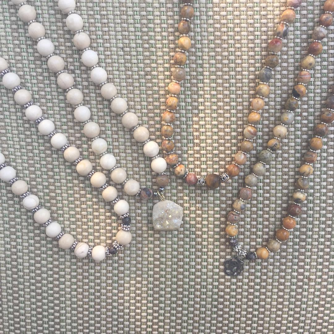 Local Sarasota Jewelry Collection! fossilbeads druzyjewelry shoplocalsrq downtownsarasota sarasota keffies