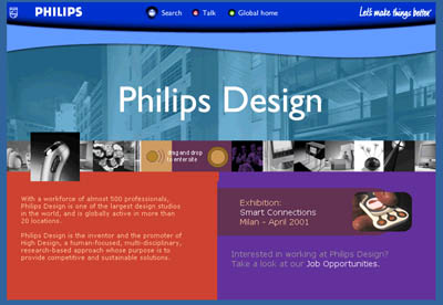 screen shot of Philips home page