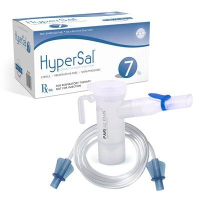 HyperSal 7% NaCl Inhalation Solution Case of 12 ( 60 X 4 ...